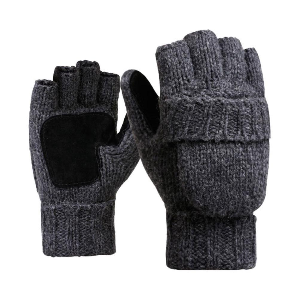 BLACK Thermal Gloves Knitted Winter Full Fingers Pair for Mens
