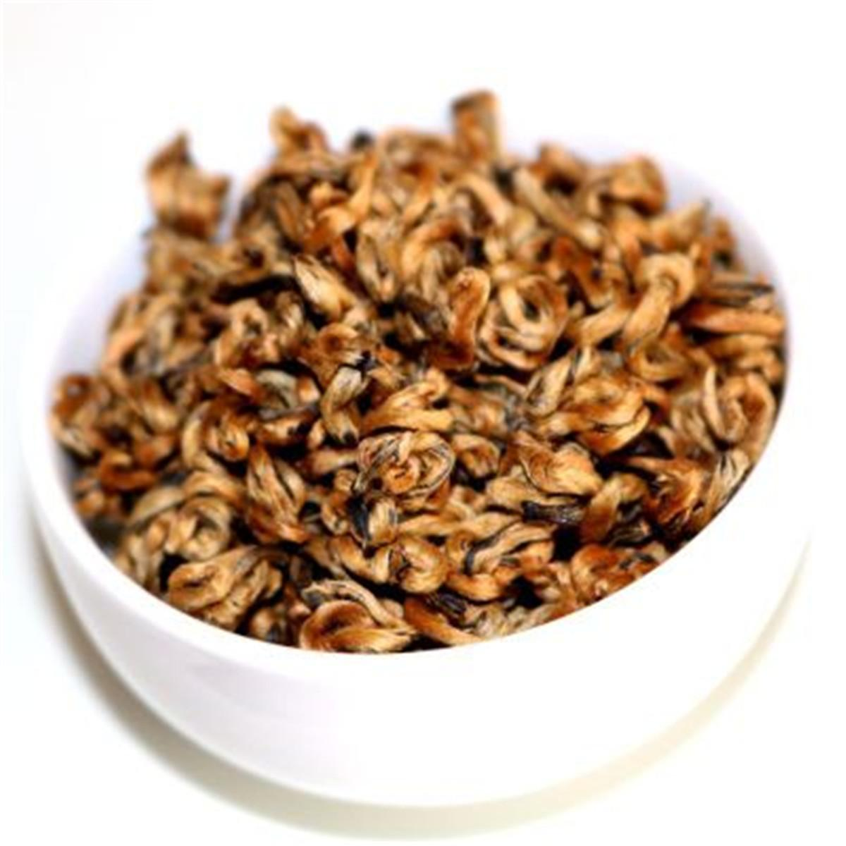 Promosyon Çin Organik Siyah Çay Prim Yunnan Altın Salyangoz Bud Dianhong Sağlık Yeni Çay Yeşil Gıda Pişmiş