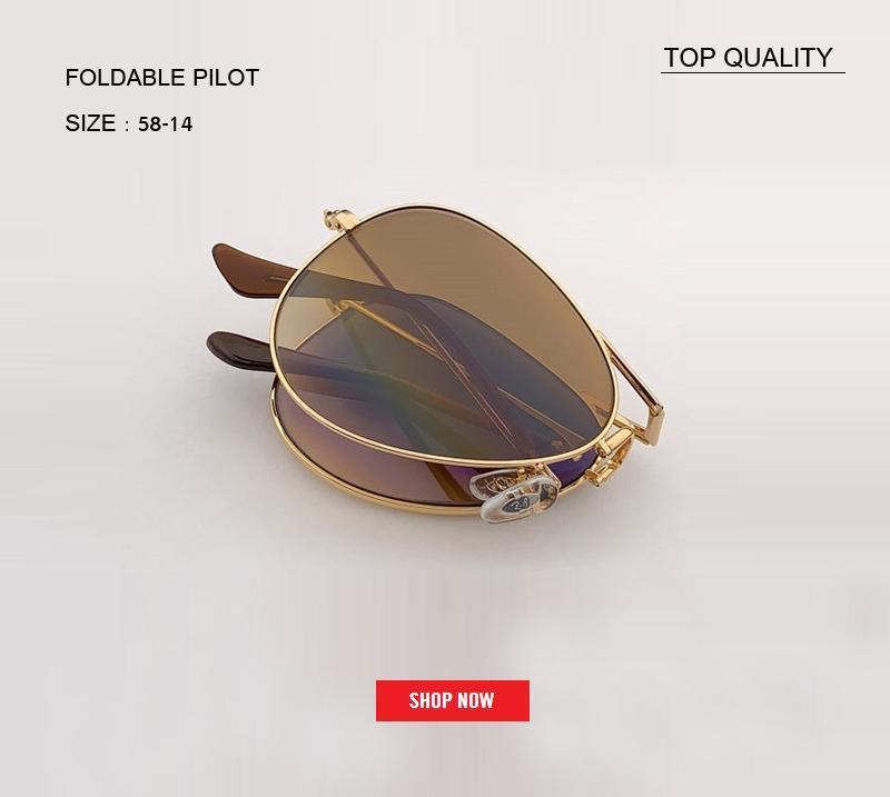 2019 أعلى درجة الإطار المعدني خمر للطي نظارات المرأة العلامة التجارية مصمم الرجال القيادة طوي التدرج rd3479gafas uv400 الطيار نظارات شمس