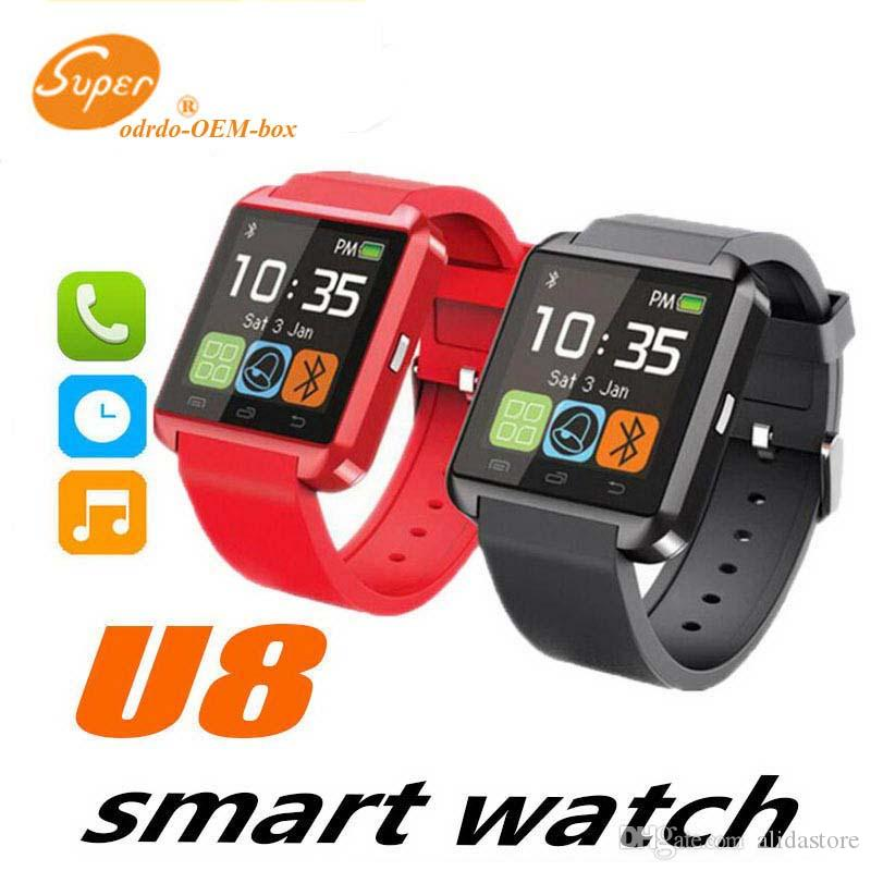 Fashionable Wearable U8 Smart Watch Bluetooth Phone Mate Smartwatch Wrist for Android iOS iPhone Samsung