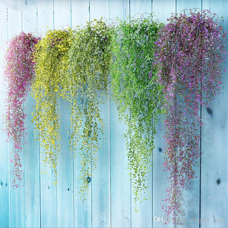 11 Heads Air Grass Rattan Simulation Plants Hanging Orchid Decor Wall Hanging UK