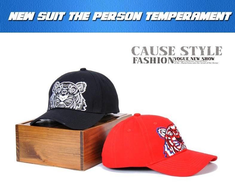 Erkek Kadın 4 Sezon Şapka 3 Renkler İsteğe yüksek Kalite Kaplan Baş Tasarımcı Beyzbol şapkası Marka Beyzbol Caps