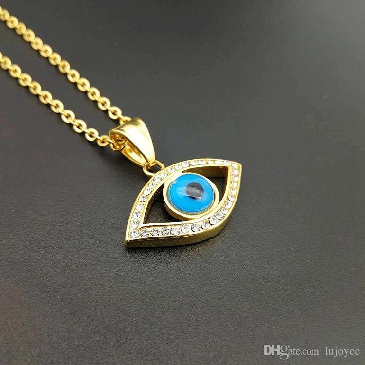 Lujoyce египетский Глаз Гора кулон ожерелье для женщин/мужчин из нержавеющей стали злые глаза ожерелье обледенелый Bling хип-хоп Египет ювелирные изделия