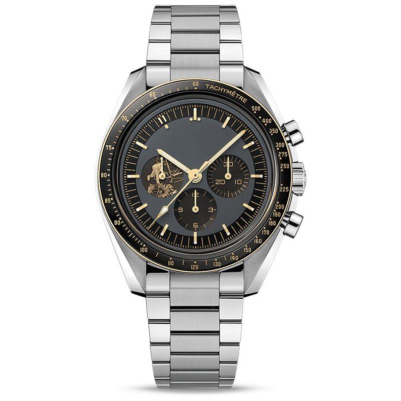 erkekler için en iyi marka swiss saatler 11 50. yıldönümü DEISGNER izle kuvars hareketi tüm çevir çalışma kaçak içki kadranı hızı montre de luxe apollo