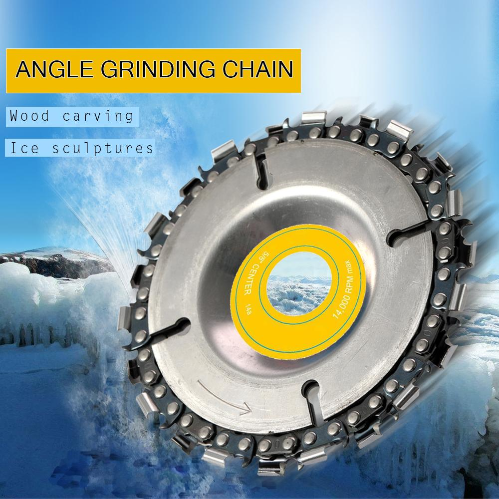 """4/"""" Cut Grinder Disc and Chain Wood Carving For 100//115 Angle Grinder DIY US Sell"""