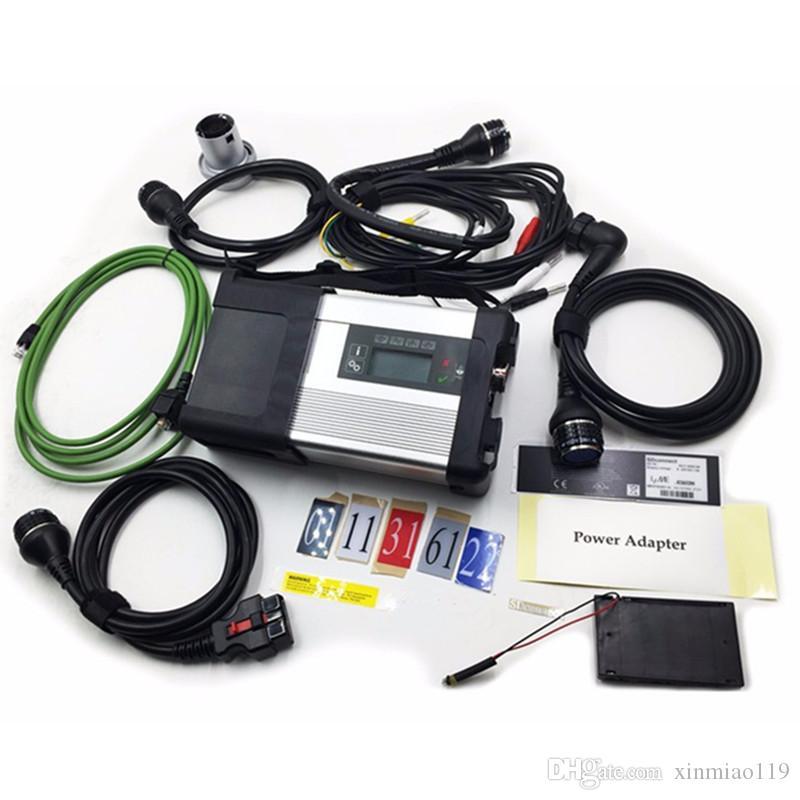 MB Estrela C5 para Mercedes Benz Ferramentas de Diagnóstico de Carro Suportando WiFi OBD Scanner SD Conector C5 multiplexador com cinco cabos para carros