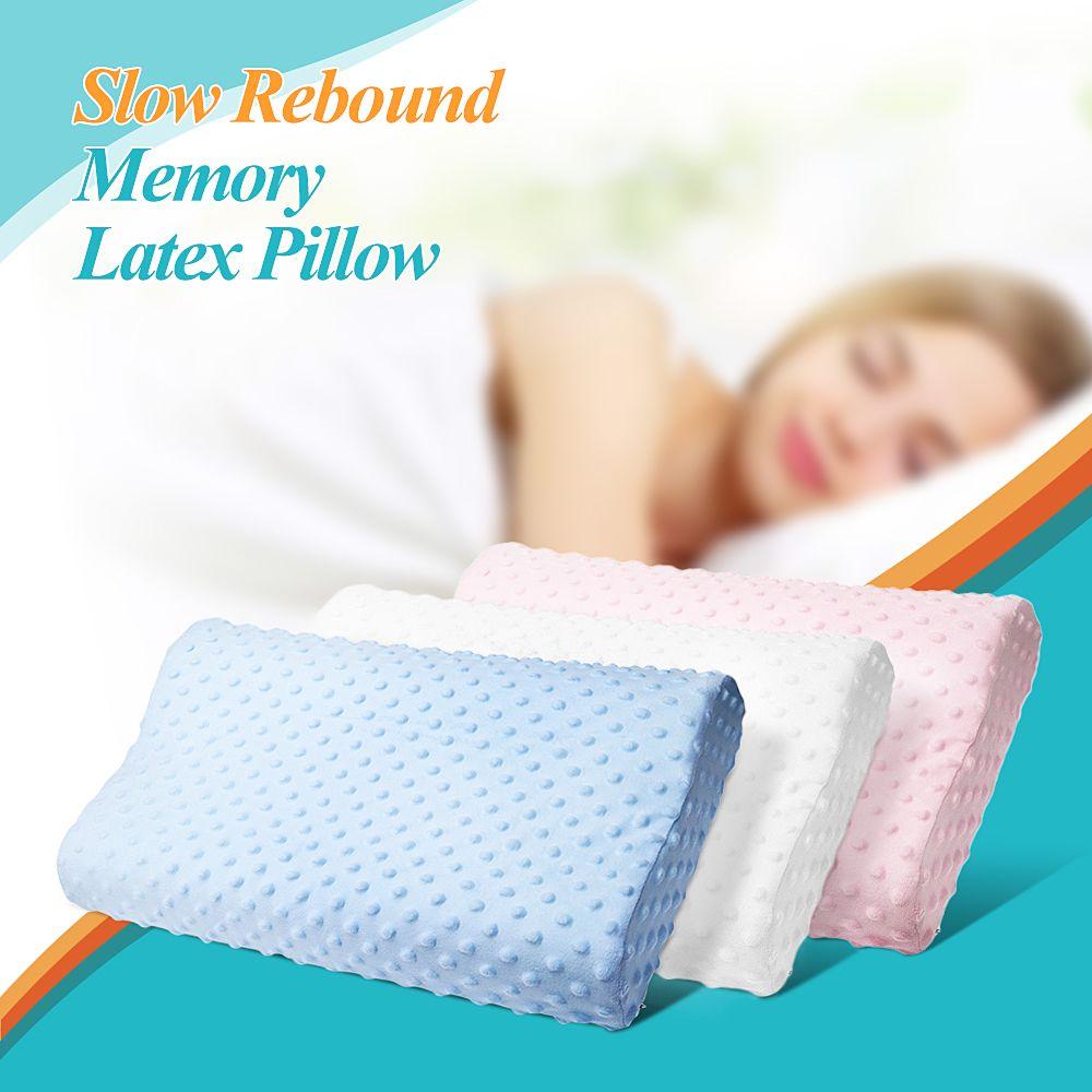Almohada 3 colores Memoria Espuma Almohada Látex Cuello Fibra Rebote lento Masajeador suave Cuidado de la salud cervical20