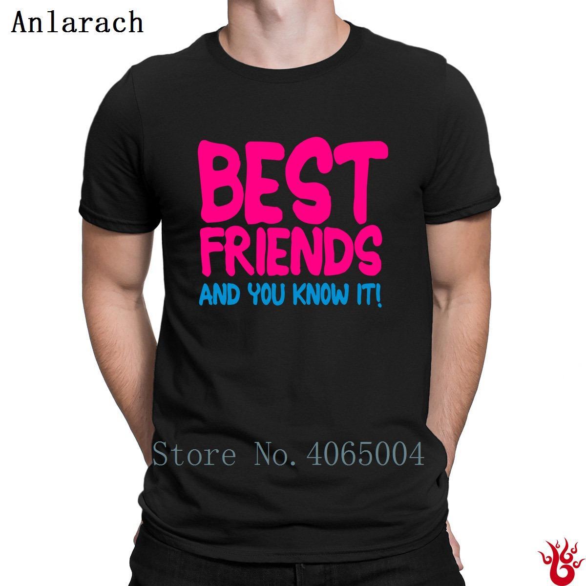 Migliori amici e tu lo sai T-shirt di svago del cotone degli uomini Streetwear maglietta 2018 divertente casual Designer HipHop Top anti-rughe