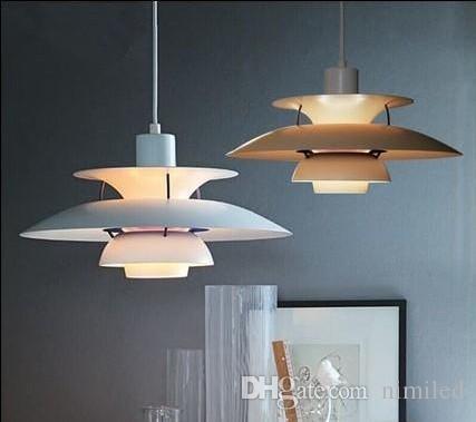 현대 램프 덴마크 루이 Poulsen PH5 펜던트 램프 침실 램프 화이트 블랙 매달려 빛 서스펜션 Droplight 생활 식사 LLFA
