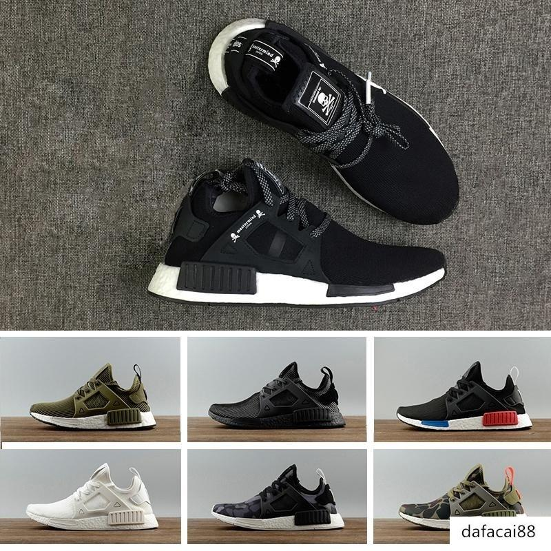 Hot Sale Nmd Xr1 Pk Running Shoes R1 Primeknit Og Pk Zebra Blue