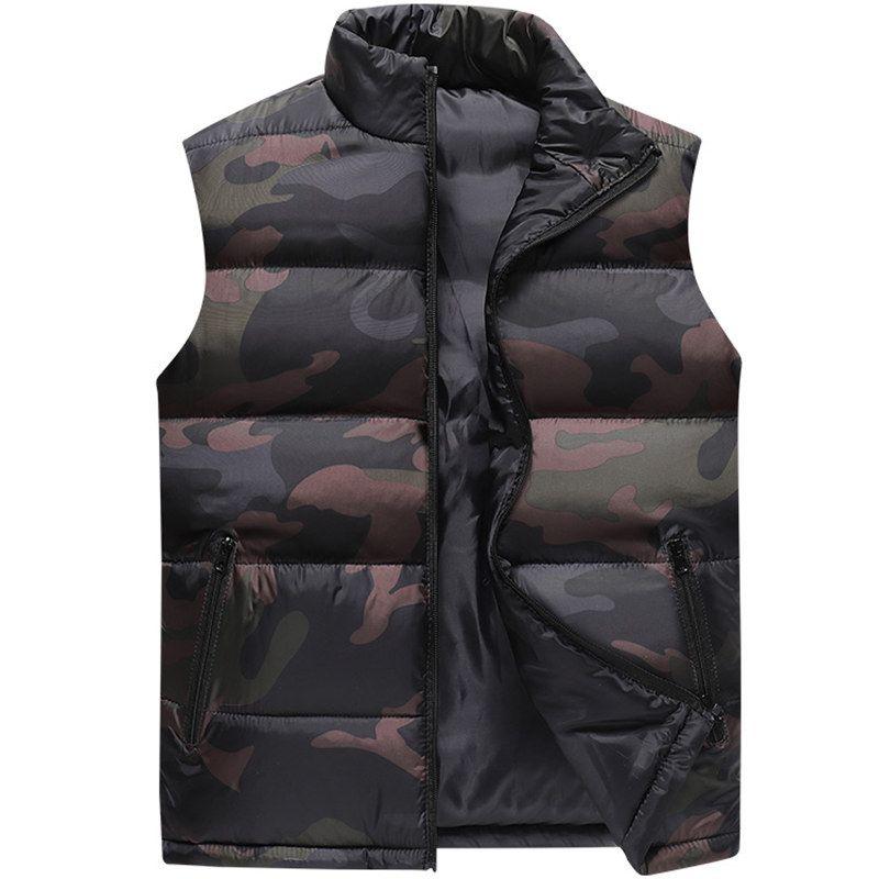 Tarnung Weste Men Weste Herren Winter-Sleeveless Jacket Man Atumn Windschutz Freizeit Westen Slim Fit-Marken-Kleidung XS-6XL