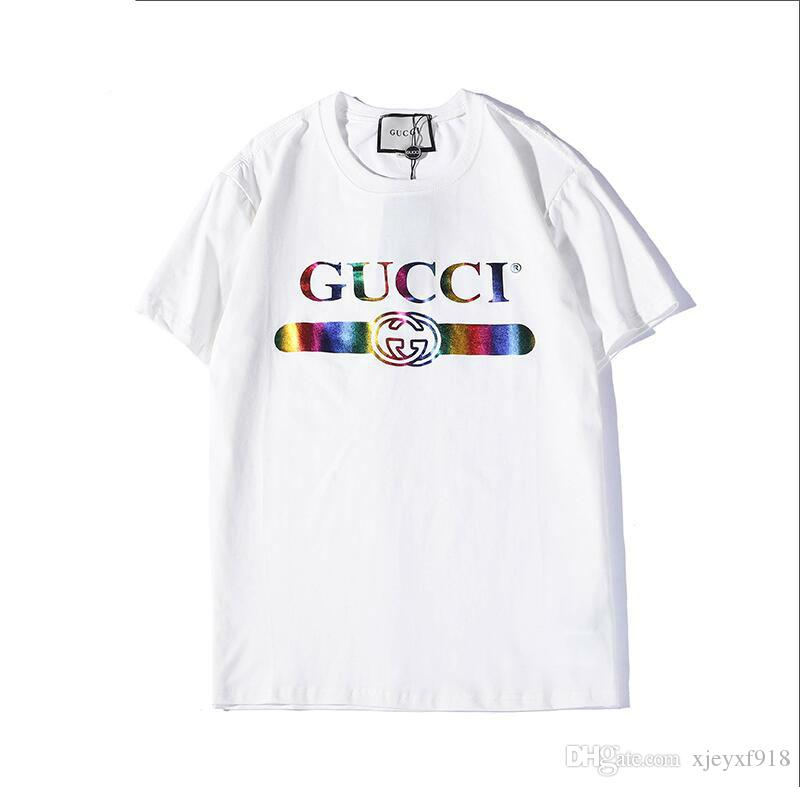 various kinds of choose original largest selection of 19 Best Sellers Mens Designer T Shirts Summer New Rainbow Letter Printing T  Shirt Men And Women Luxury Shirt I FEEL LIKE Pablo A T Shirts Fun T Shirts  ...