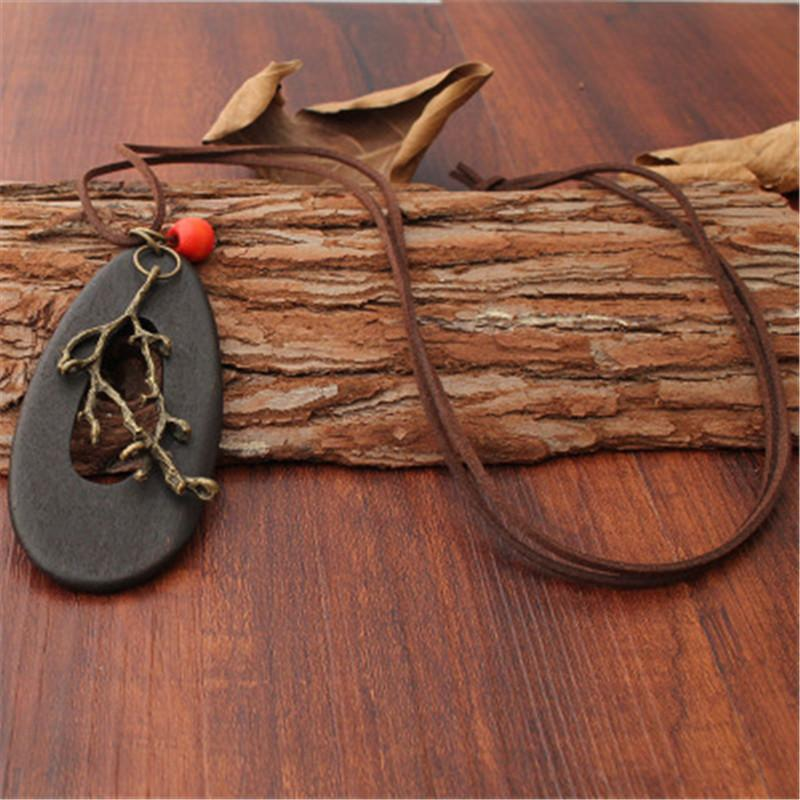 Mulher do vintage gargantilha colar Ramos bruxa colar de jóias linhas oval pendant longo para mulheres collares preto