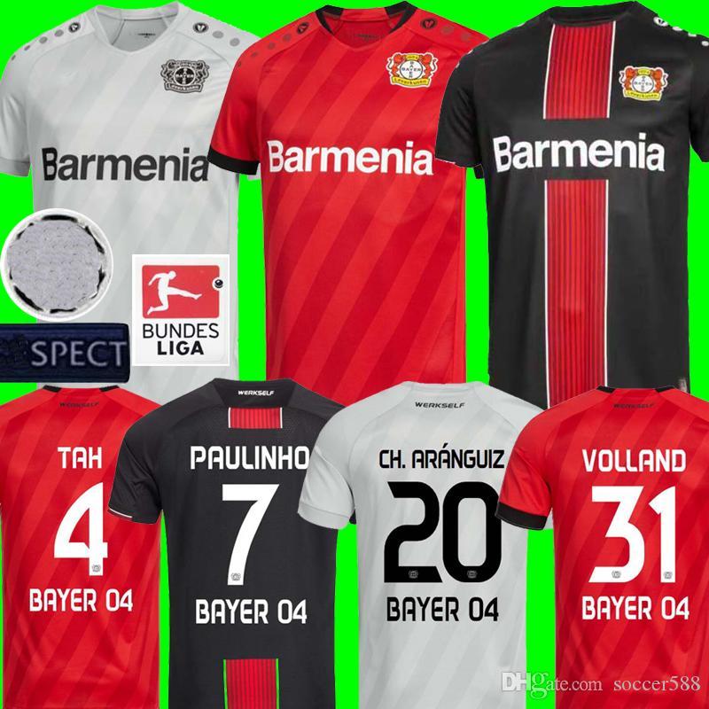 2021 19 20 Leverkusen Soccer Jersey CH. ARANGUIZ 2020 Bayer 04 ...