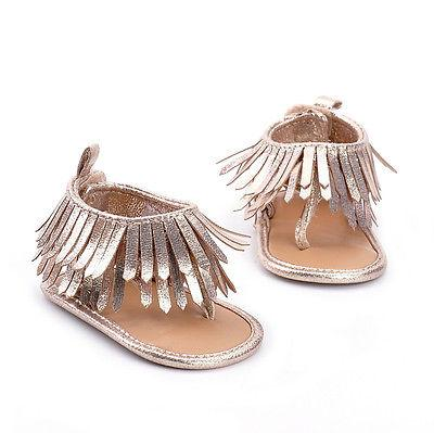 0-12M Newborn Infant Baby Girls Shoes Summer Toddler Girls Tassel Sandals Fashion Shoes