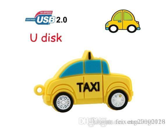 الناقل التسلسلي العام الموضة الجديدة محرك فلاش 64GB تاكسي سيارة حملة القلم 4GB 8GB 16GB 32GB USB ذاكرة عصا الإبهام بندريف أفضل هدية الإبداعية