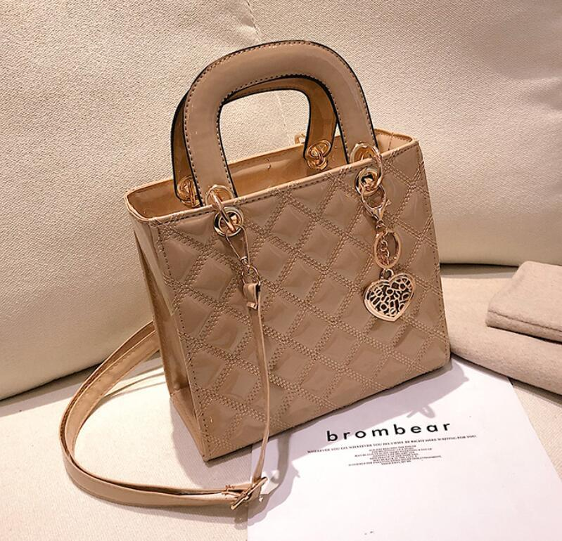cheapest price outlet for sale cheap sale Small Bag Tote Bag Leather Designer Quilting Bag Diamond Lattice Pattern  Ladies Heart Decor Luxury Purse Handbag Cheap Designer Handbags Black ...