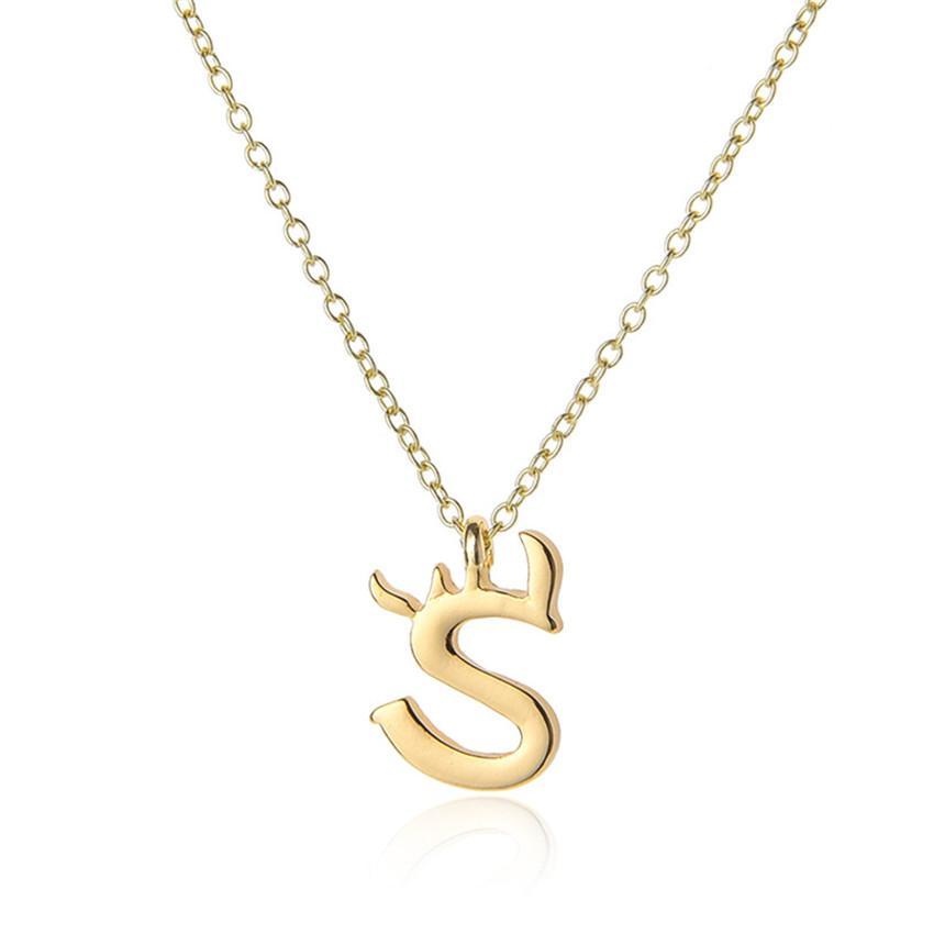 12pcs charme USA Nom de l'alphabet initial Lettre monogramme S Amérique du mot anglais Lettre signe Nom de famille collier pendentif bijoux cadeau maman