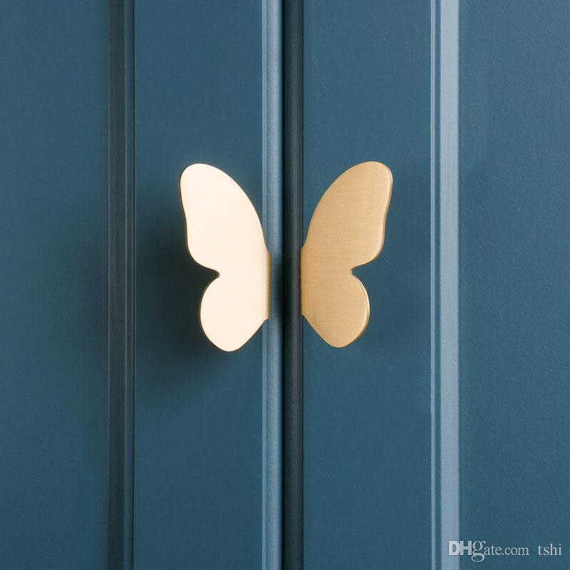 2020 Brass Cabinet Handle Butterfly Cabinet Handles Furniture