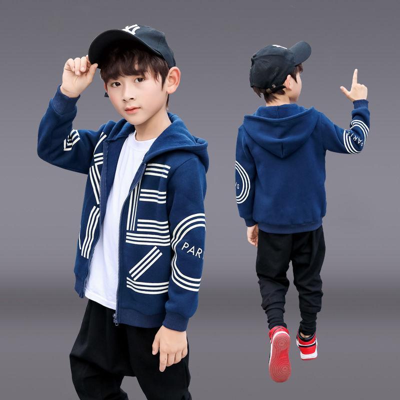 Мальчики весна и осень куртки новые маленькие и средние детские красивые толстовки молния рубашка корейский стиль детская одежда фабрика