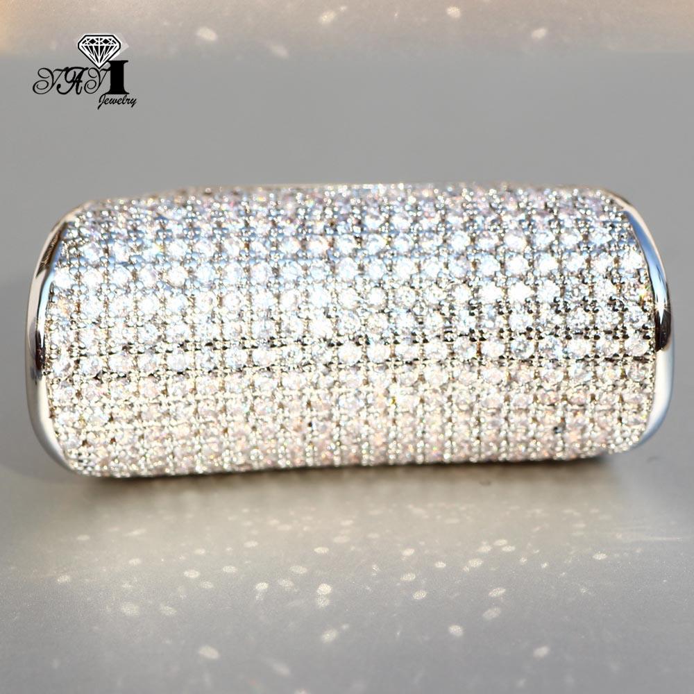 Cheap Engagement Yayi gioielli principessa Cut 7.3 CT Bianco-argento zircone di colore di fidanzamento di nozze Cuore Anelli ragazze di partito Anelli Gifts 850