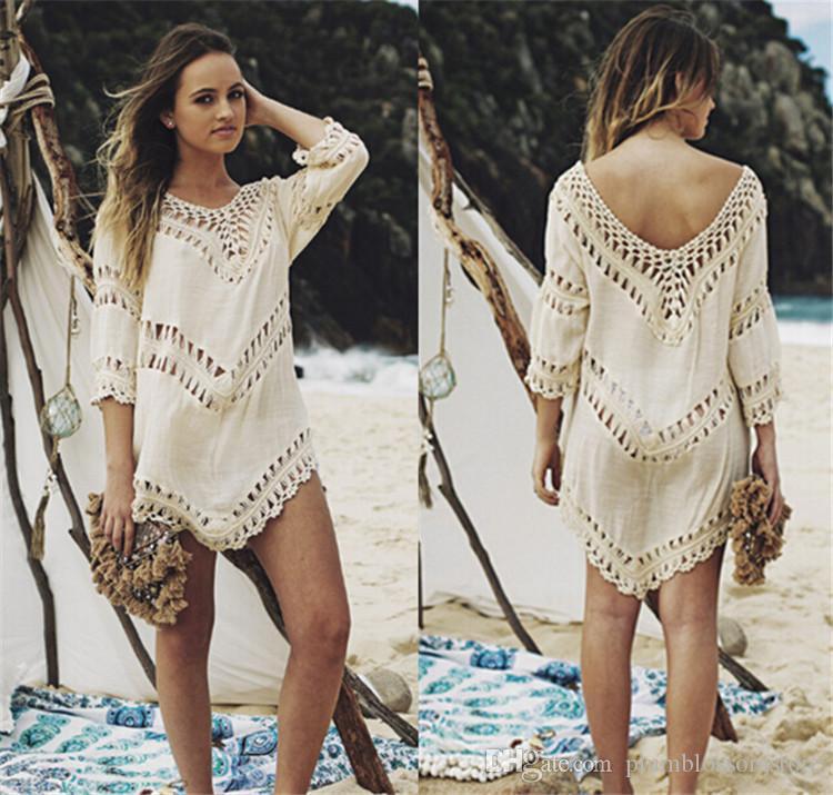 ملابس النساء بيكيني شاطئ السباحة التكتيم الصيف منتجع شاطئ الكروشيه الجوف واقية من الشمس بلوزة ملابس السباحة البدلة الاخفاء ملابس السباحة الجديدة
