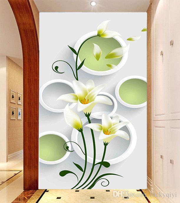 Modern klasik Duvar rüya daire çiçekler duvar kağıdı TV kanepe arka plan duvar kağıdı sundurma ev duvar dekoratif