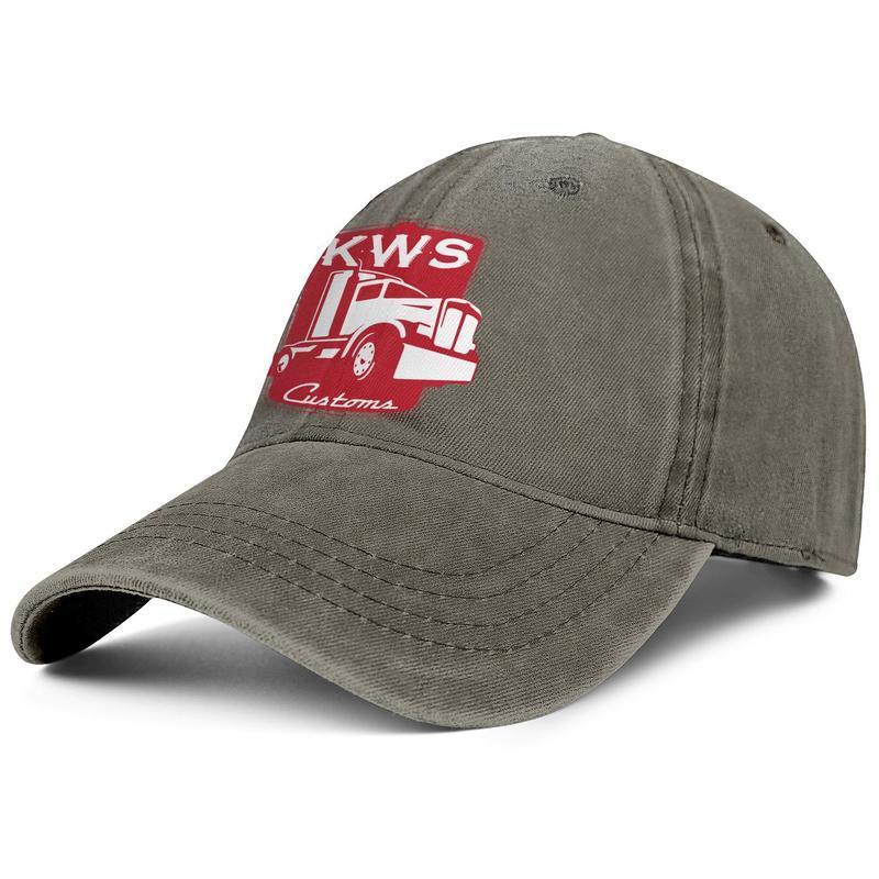 يأتي KENWORTH W900 الشاحنات لطيف للجنسين الدنيم القبعات العصرية قبعة بيسبول بارد خمر مخصصة KWS الأحمر الأمريكي سيارة سوداء قريبا