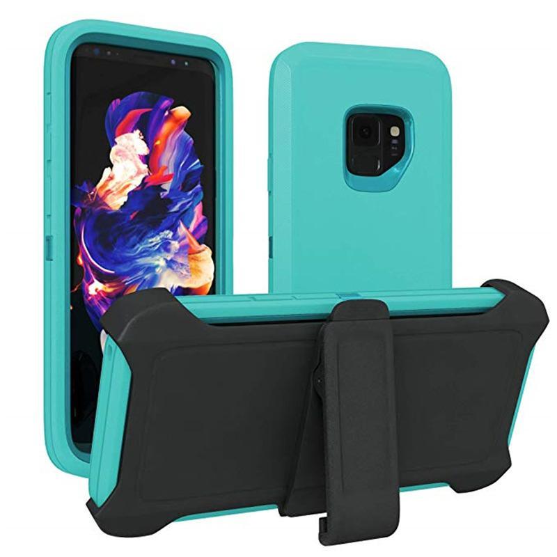Pour Samsung Nouveau modèle de téléphone 3 en 1 Defender avec clip arrière de téléphone cellulaire Pour Samsung Note 10 pour Samsung S10