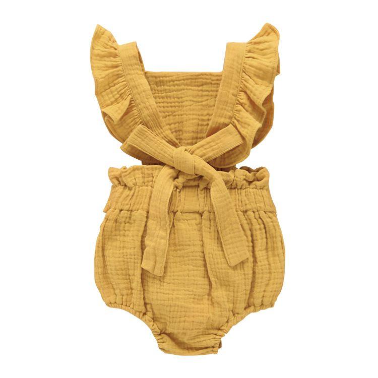 5 cor Ins roupas de bebê recém-nascido da menina do menino romper onesies bebé bonito Voador luva romper babysuit todders atacado miúdo