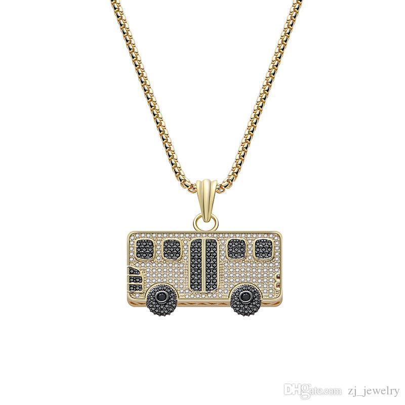 Moda Car Bus bonito colar de pingente de alta qualidade de cobre Zircon jóias colar melhor presente Gold Silver Cor Two Escolha Uma