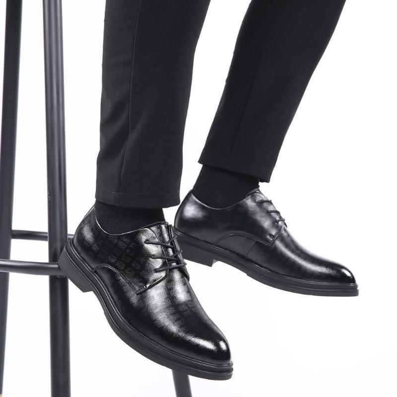 Herren-Schuhe PU-Leder-Handgemachte Mens Oxfords Top-Qualität Freizeitschuhe Männer Arbeit Large Size Wohnungen 12.10
