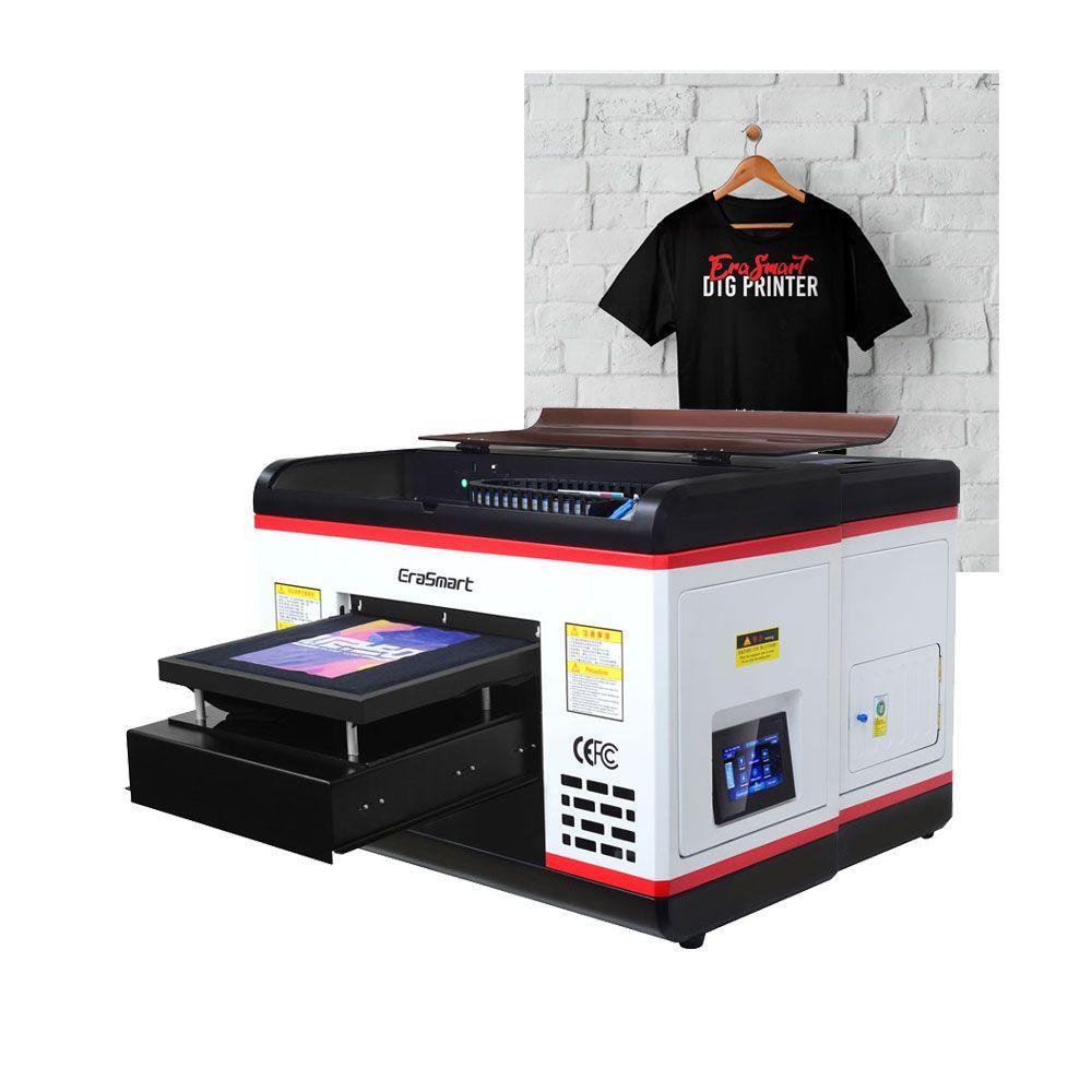 Erasmart A3 1390 Цифровая печатная машина DTG Принтер Текстильная футболка печатная машина
