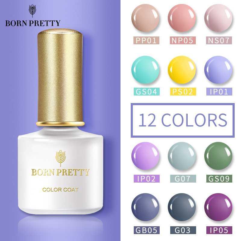 BORN PRETTY 12st Gel-Nagellack-Set 6 ml Gel Polish Nail Kit UV Set Manicuring Kit Kunst tränken weg von UV-LED 6ML