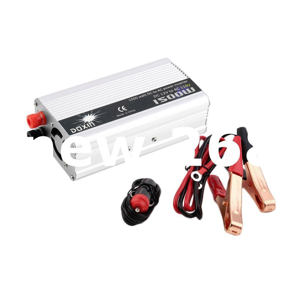 Freeshipping DC 12V to AC 110V Portable Car Power Inverter Charger Converter 1500W WATT Top Sale
