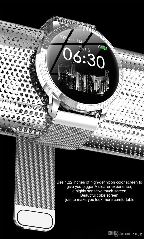 CF18 Reloj Inteligente OLED Pantalla a Color Smartwatch Moda Monitor de Ritmo Cardíaco Monitor de Presión Arterial de Ritmo Cardíaco Hombres Mujeres reloj