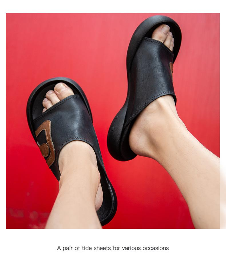 Japanese-style2020 New Style Slipper Summer Thick Bottomed Japan Fashion Sandals Cool Trendy Shoes Breathable Casual Sandals Me