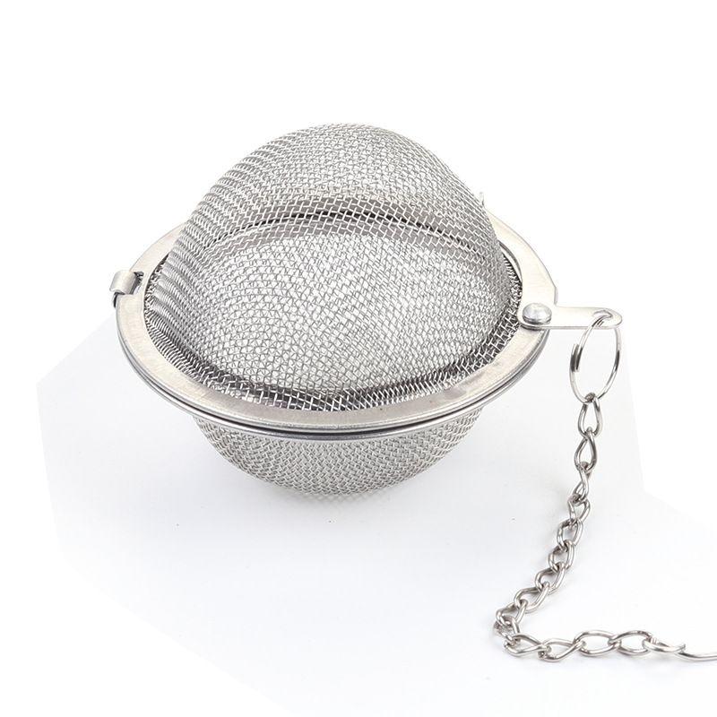 الفولاذ المقاوم للصدأ شبكة الكرات وعاء الشاي infuser المجال شبكة تصفية فضفاضة الشاي يترك مصفاة جعل الطعام حقيبة الشاي