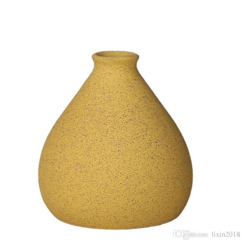 El yapımı Nordic Seramik Vazolar Küçük Saksı Yuvarlak Topu Ferforje Masaüstü Braketi Vazo Dekorasyon Süsler Çiçek Çiçekler Düzenleyici