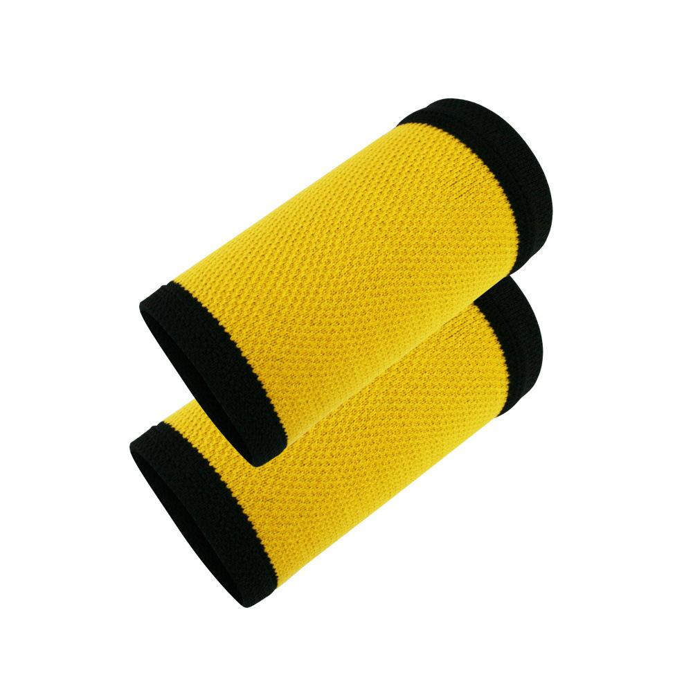 1pair Colorful Wrist Sweat Colorful Compression Wristband Summer Thin Knitted Sports Wristband Nylon Protective Wrist