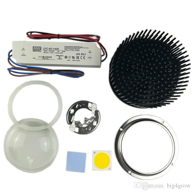 Предварительно просверленный радиатор D133mm cree cxb3590 3500k 80cri Идеальный держатель 50-2303CR и стеклянный объектив D100mm с 90 градусами с драйвером LPC-60-1400