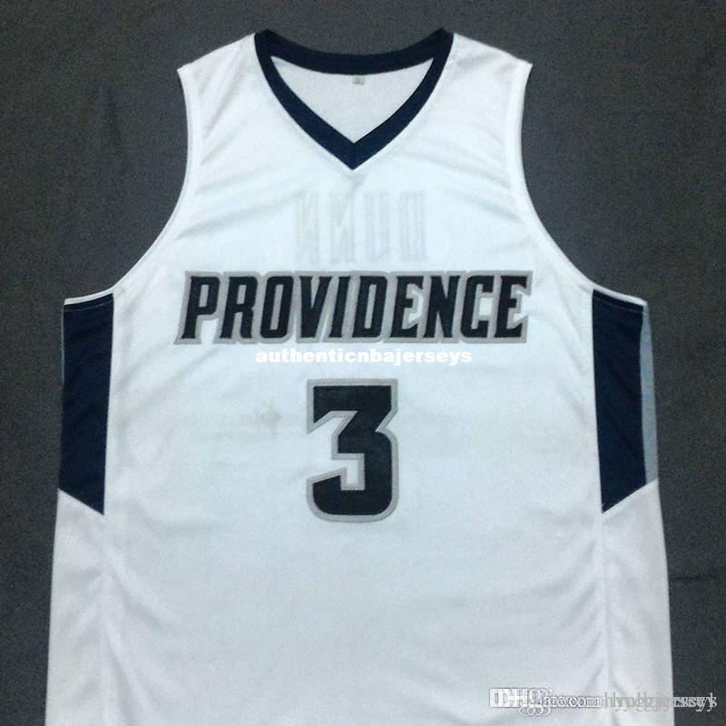 Pas cher sur mesure KRIS DUNN Providence Frères Blanc Basketball Jersey Broderie Cousu Personnaliser toute taille et nom