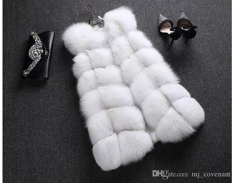 LIYAFUR Women's 100% Real Genuine Full Pelt Skin Luxury Fox Fur Long Vest Waistcoat Gilet Fashion