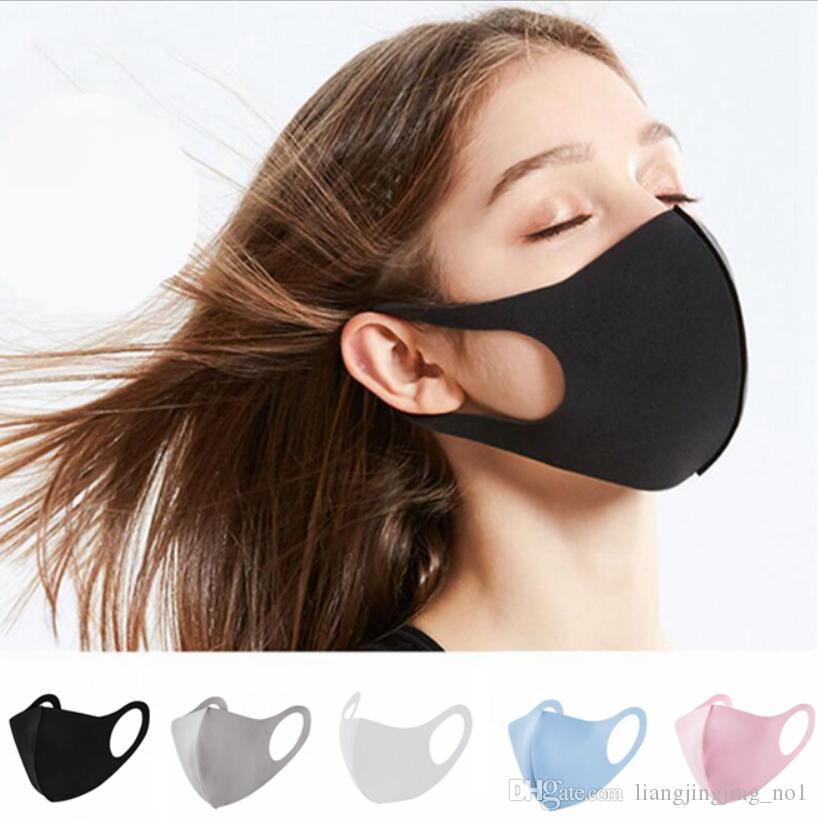 Boca Ice Silk Máscara laváveis Máscaras respirável Unisex Rosto reutilizável Anti Poeira Anti Poluição cobrir a boca LJJA3854
