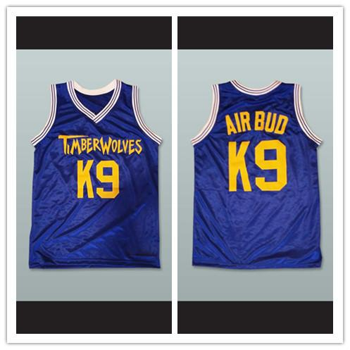 2019 Air Bud K9 Timberwolves Blue Basketball Jersey From