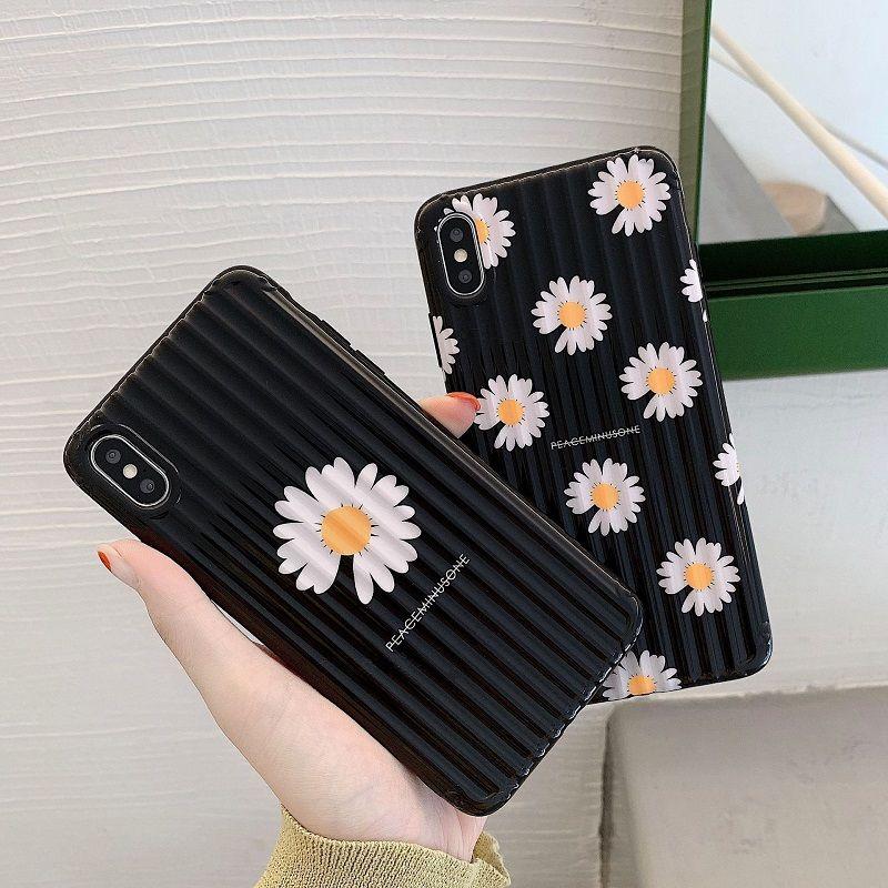 Sıcak Satış Moda Papatya Çiçek Telefon Kılıfı için iphone SE 2020 11 Pro Max Bagaj Yumuşak TPU Kapak For iphone XS XR MAX 8 7 6 Plus 6S