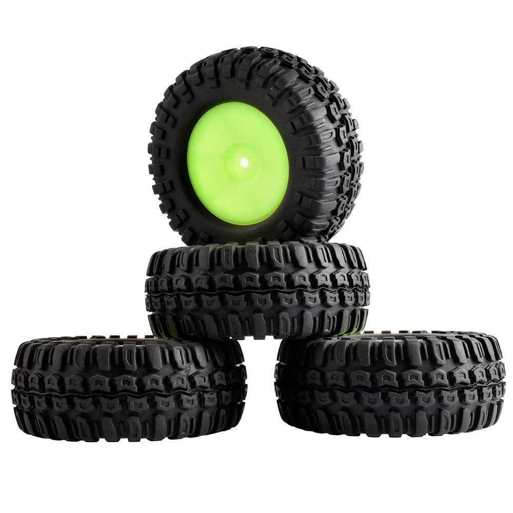 96 milímetros RC 9071-7006A Rubber TiresWheel 4pcs Para 1/10 RC 4WD D90 Rock Climbing