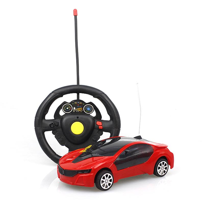 caixa Novo controle remoto sem fio carro infantil brinquedo elétrico de controle remoto modelo de carro de duas vias de presente carro de brinquedo com luz