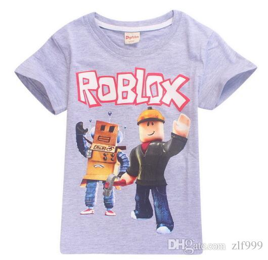 T-shirt bambini estate Boy Girls Cartoon 3D Roblox Game Print Magliette per bambini Abbigliamento casual T-shirt manica corta