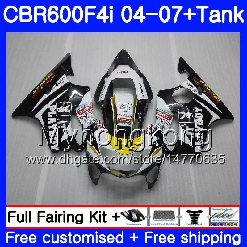Bodys For HONDA CBR600 FS CBR 600F4i 2004 2005 2006 2007 281HM.42 CBR600 F4i CBR 600 F4i CBR600F4i 04 05 06 07 Fairing kit black cowling hot